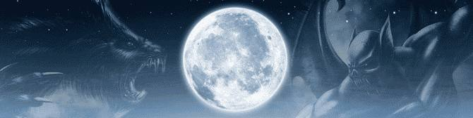 How is moon connected to Werewolves and vampires?