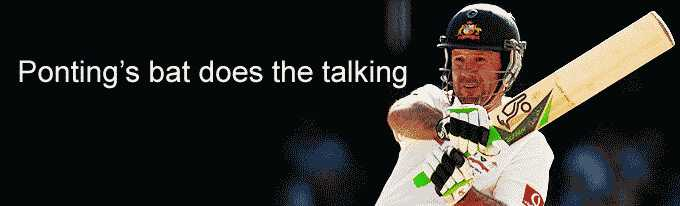 Ponting's bat does the talking