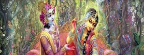 holi with radha krishan
